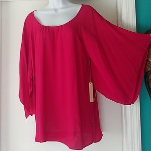 Hot pink Gibson Latimer top....nwt
